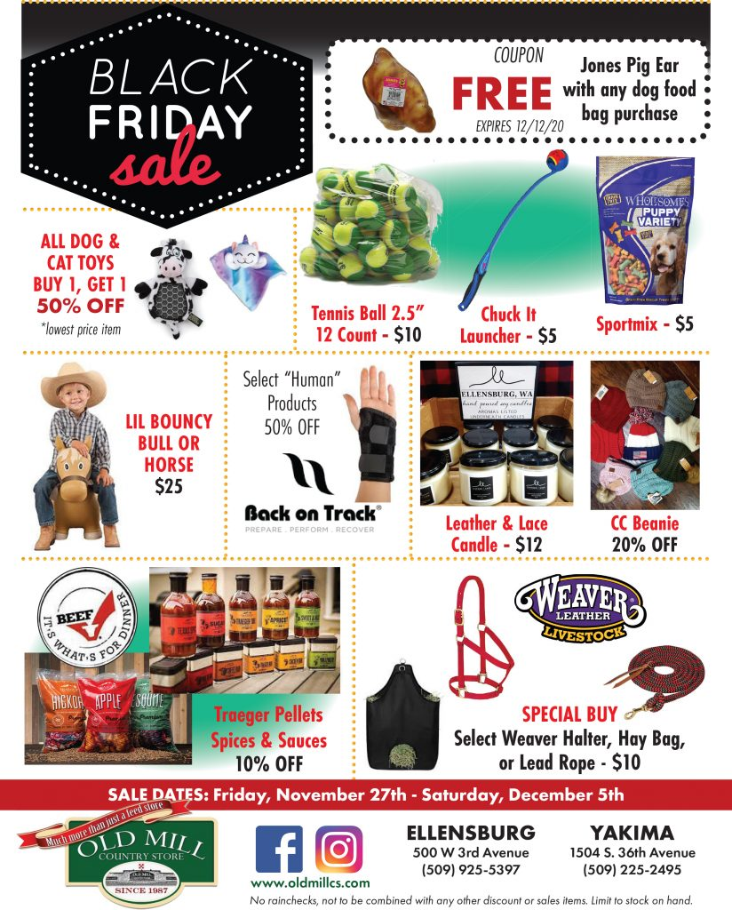 Old Mill Country Store Black Friday Sales Flyer Page 1